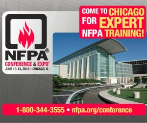 NFPA Conference and Expo, June 10-13, 2013. Chicago, IL.