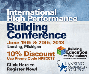 International High Performance Building Conference. June 19 & 20, 2013.