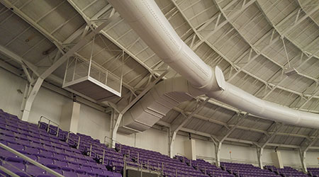 Fabric Ducts Prove Key Solution In Arena Upgrade