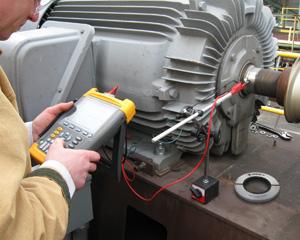 Test kit measures motor shaft voltages for predictive for Grounding brushes electric motors