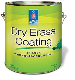 Dry Erase Coating: Sherwin-Williams