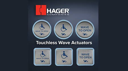 Actuator Opens Doors With a Wave: Hager Companies
