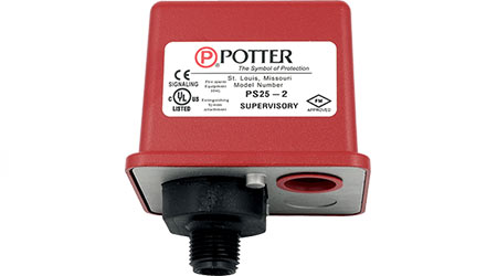 Switch Monitors Sprinkler System Pressure: Potter Electric Signal Company
