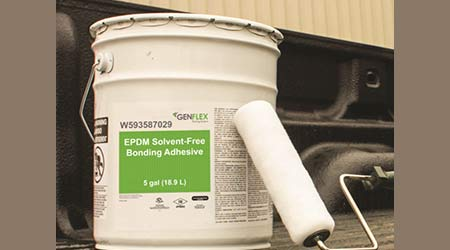EPDM Bonding Adhesive is Solvent-Free: GenFlex Roofing Systems