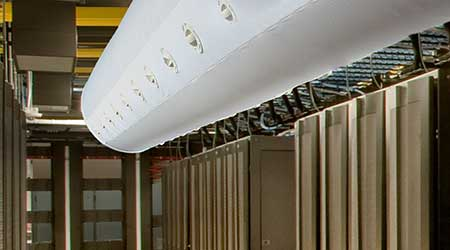 Air Duct for Data Centers Offers Large Volume, Low Velocity: DuctSox Corp.
