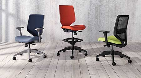 Task Chair Options Accommodate Flexibility: HON