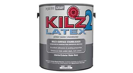 Gray Primer Helps Achieve Accurate Dark, Rich Topcoat: KILZ