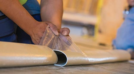 Adhesive Backing Can Cut Installation Time in Half: nora