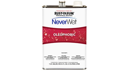 Coating System Repels Water and Oils: RUST-OLEUM