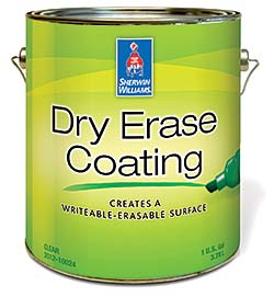 Dry-Erase Coating: Sherwin-Williams