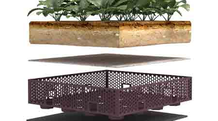 Modular Vegetative Roof System Manages Stormwater: Firestone Building Products