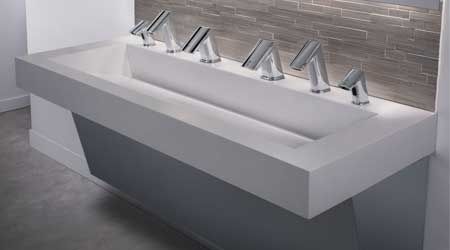 Sustainable Restroom System Features Touch-Free Products: Sloan Valve Co.