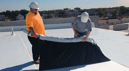 TPO Film Protects Membrane During Installation: Mule-Hide Products Co.
