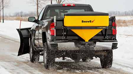 Tailgate Spreader Applies Salt, Ice onto Slippery Roads, Pathways: SnowEx