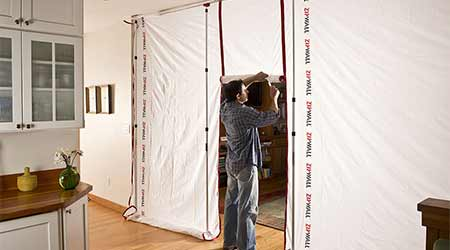 Environmentally Sustainable Dust Barrier System Provides Reusable Alternative: ZipWall