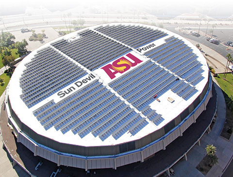 A Devil of a Challenge: Solar panels add to a department's challenges in a re-roofing project at Arizona State University