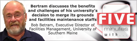 Bertram discusses the benefits and challenges of his university�s decision to merge its grounds and facilities maintenance staffs