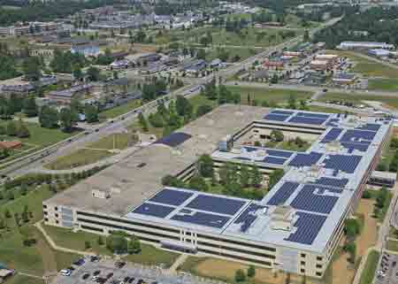Bean Center Uses Ample Roof Space for Solar Tests, Generates Own Power