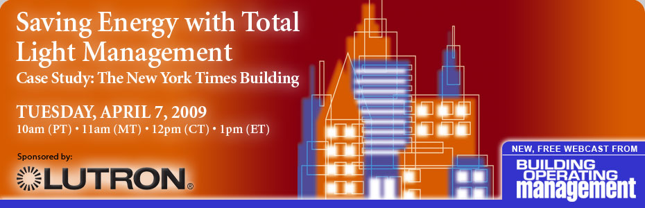 Saving Energy with Total Light Management Webcast