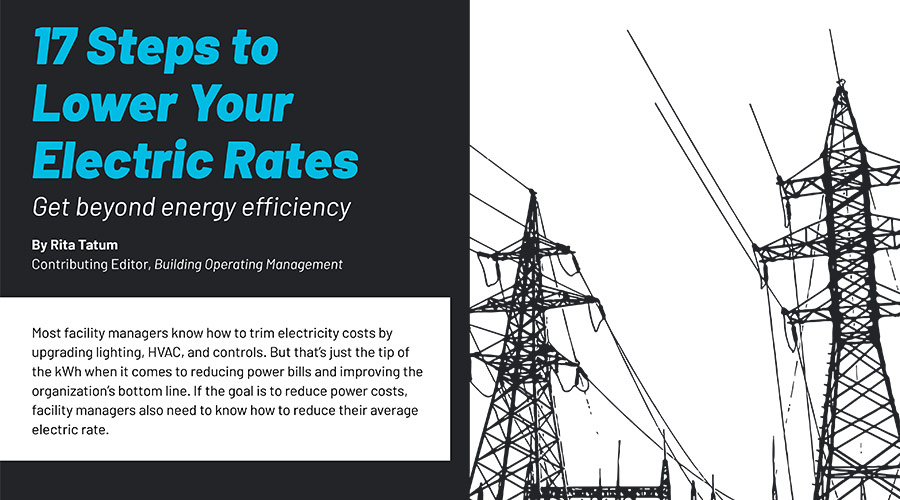 steps to lower electric rates graphic