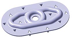 Plate For PVC Roof: Carlisle SynTec