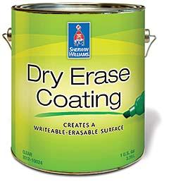 Dry Erase Coating: Sherwin-Williams