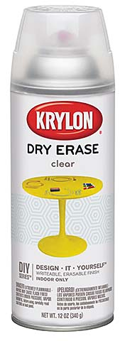 Dry Erase Spray Paint: Krylon Products Group