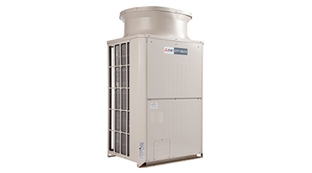 Outdoor Units Feature Efficient Heat Exchanger: Mitsubishi Electric