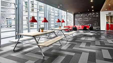Hybrid Flooring Combines Carpet with Resilient Flooring: FORBO
