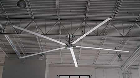 HVLS Fan Has Direct-Drive Motor: Hunter Industrial
