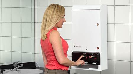 Pad/Tampon Dispenser: Hospeco