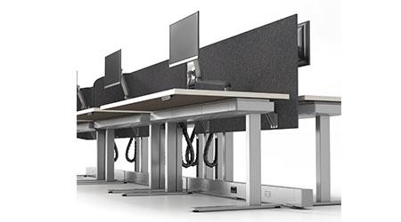 Height-adjustable Work Station: Allsteel