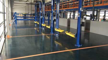 UV-cured Concrete Coating: Niagara Machine