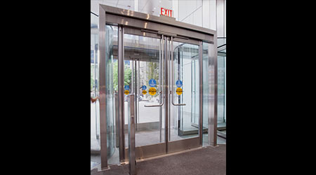 Narrow Stile Balanced Doors: Ellison Bronze