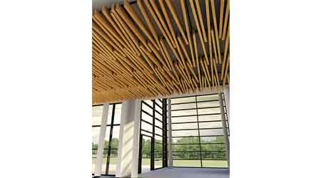 Ceiling Series Additions Add to Beam and Baffle Possibilities: Hunter Douglas Ceiliings
