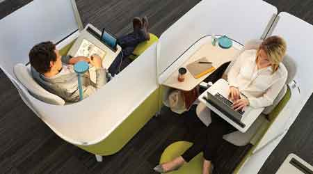 Work Lounge Helps Users Avoid Distractions: Steelcase Inc.