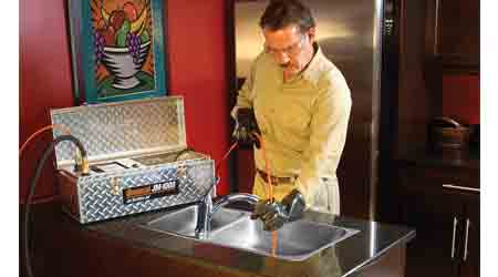 Jetter Clears Grease, Sand and Ice Faster: General Pipe Cleaners