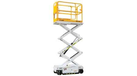 Lightweight Scissor Lift Reaches Heights up to 20 Feet: Custom Equipment Inc.
