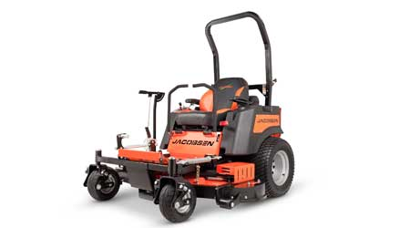 Mower Line Features, Stand-On, Ride-On Zero-Turn, Walk-Behind Models: Jacobsen