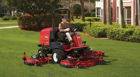 Rotary Mowers Feature 55 Horsepower Diesel Engine: Toro Commercial Division