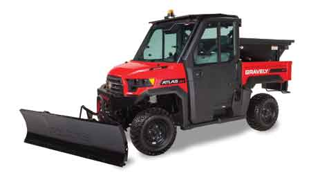 Utility Vehicle Attachments Available for Landscaping, Snow Removal: Gravely