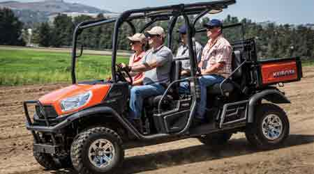 Four-Passenger Diesel Utility Vehicle Features Cargo Conversion System: Kubota Tractor Corp.