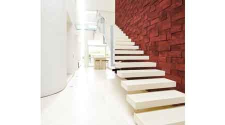 Cork Bricks Decor Offers Contemporary Design: Sustainable Materials