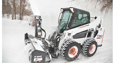 Snow Blower Attachment Helps Facilities Clear Paths and Walkways: Bobcat Co.