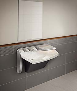 Lavatory system: Bradley Corp., Washroom Accessories Div.