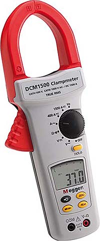 Clamp Meter Measures Current Flow in Electrical Systems and Equipment: Megger