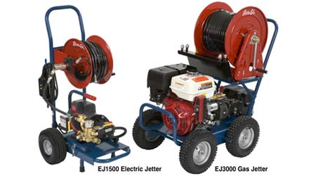 Electric, Gas Jetters Designed to Clean Variety of Drain Lines: Electric Eel Manufacturing