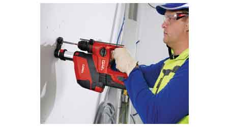 Cordless Rotary Hammer Reduces Dust During Drilling: Hilti Inc.