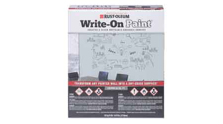 Walls Become Writeable Surfaces With Write-On Paint: Rust-Oleum