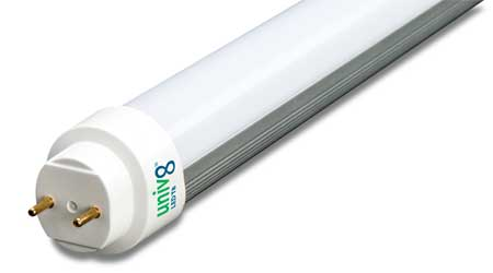 T8 LED Lamp Works With or Without Ballast: Forest Lighting